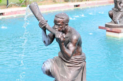 Kwame Nkrumah Memorial Park Fountain. Kwame Nkrumah Memorial Park (KNMP) is a National Park in, Accra, Ghana named after Osagyefo Dr. Kwame Nkrumah, the Royalty Free Stock Photos