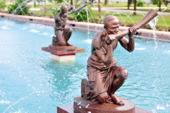 Kwame Nkrumah Memorial Park Fountain. Kwame Nkrumah Memorial Park (KNMP) is a National Park in, Accra, Ghana named after Osagyefo Dr. Kwame Nkrumah, the Royalty Free Stock Photo