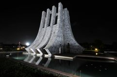 Kwame Nkrumah Memorial Park at Night Stock Images