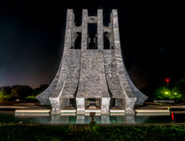 Kwame Nkrumah Memorial Park at night - Accra, Ghana Royalty Free Stock Photo