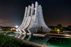 Kwame Nkrumah Memorial Park på natten - Accra, Ghana Fotografering för Bildbyråer