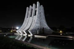 Kwame Nkrumah Pamiątkowy park przy nocą Obrazy Stock