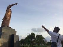 Kwame Nkrumah statua, Accra Ghana Zdjęcia Royalty Free