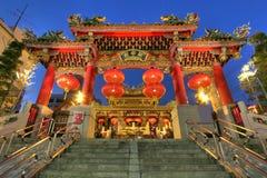 kwan Chinatown świątynia Japan tai Yokohama fotografia stock