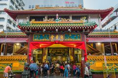 Kwan Im Thong Hood Cho-Tempel in Singapore royalty-vrije stock afbeelding