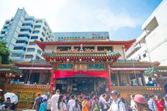 `Kwan Im Thong Hood Cho Temple` is a traditional Chinese temple, Bugis , Singapore royalty free stock images