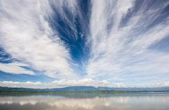 Kwan Phayao, lac Phayao, lac mountain Photographie stock