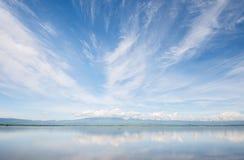 Kwan Phayao, lago Phayao, lago mountain Foto de Stock Royalty Free