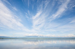 Kwan Phayao Phayao sjö, berg sjö Royaltyfri Foto