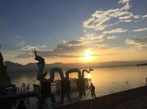 Kwan Phayao Sunset fotografia stock libera da diritti