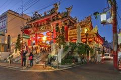 Kwan Tai寺庙,横滨,日本 免版税库存照片