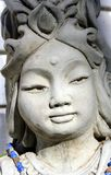 Kwan Yin. Close-up of statue of the face of Kwan Yin, the Buddhist goddess of mercy and compassion Royalty Free Stock Images