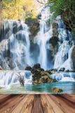 Kwang sri waterfall in Luang prabang, Laos. Royalty Free Stock Photography
