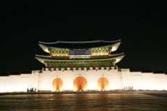 Kwanghwa Gate at Night Royalty Free Stock Photo