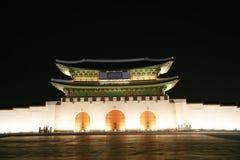 Kwanghwa Gatter nachts lizenzfreies stockfoto