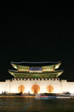 Kwanghwa Gatter nachts lizenzfreie stockfotografie