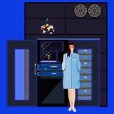Kwantowej i komputerowej inżynierii pojęcia wektorowa płaska ilustracja ilustracji