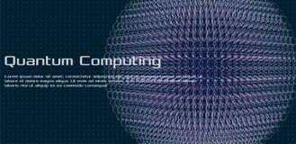 Kwantowy obliczać, głębokiego uczenie sztuczna inteligencja, sygnałowa kryptografia zdjęcie stock