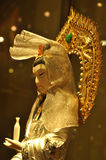 Kwanyin Bodhisattva. Close-up of statue of the face of Kwan Yin, in a chinese museum royalty free stock images