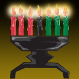 Kwanza candles. Illustration of kwanza candles glowing Royalty Free Stock Photos