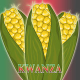 Kwanza Corn. Close up of Kwanza corn Royalty Free Stock Images