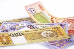 Kwanza money. Set of banknotes National bank of Angola Stock Image