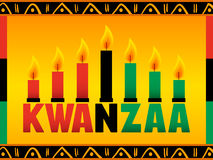 Kwanzaa. An illustration in celebration of Kwanzaa honoring African culture Royalty Free Stock Image