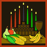 kwanzaa vektor illustrationer