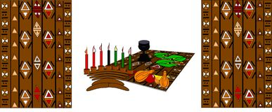 kwanzaa stock illustrationer