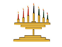 Kwanzaa Candles Stock Images