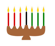 Kwanzaa candles stock illustration