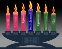 Kwanzaa candles Royalty Free Stock Photo