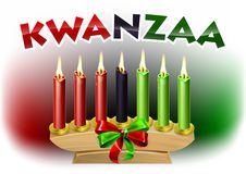 Kwanzaa Design. A Kwanzaa candles decoration holiday background illustration Royalty Free Stock Image