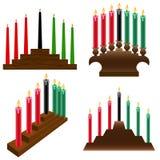 Kwanzaa candlestick. A set of four different Kwanzaa kinara Royalty Free Stock Image