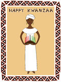Kwanzaa girl Stock Photography