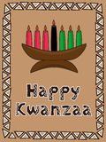 kwanzaa greeting Royalty Free Stock Images