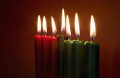 Kwanzaa-Kerzen Lizenzfreies Stockbild