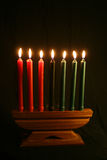 A Kwanzaa Kinara Royalty Free Stock Photo