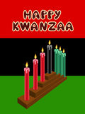 Kwanzaa kinara. With The Black Liberation Flag as backdrop Stock Images