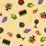 Kwanzaa seamless Stock Images