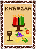 Kwanzaa simple. Traditional kwanzaa stuff drawn in simple manner Stock Images