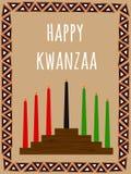 Kwanzaa vykort vektor illustrationer