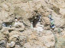 Kwarcowa agat geoda w skałach zdjęcie royalty free