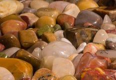 Kwarcowe Jaspisowe Małe skały Polerujący agata szczegół Obrazy Royalty Free