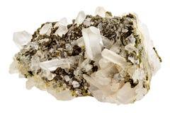 Kwarcowi kryształy na gospodarz skale zdjęcia stock