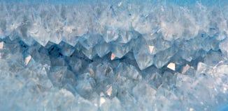 Kwarcowi kryształy w błękitnym agacie Obraz Royalty Free