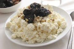 Kwark voor ontbijt. Stock Fotografie