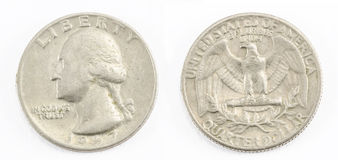 Kwart van dollar Royalty-vrije Stock Fotografie