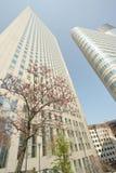 Kwart van La Défense parijs De lente royalty-vrije stock afbeeldingen