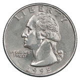 Kwartalnego dolara moneta Obraz Royalty Free
